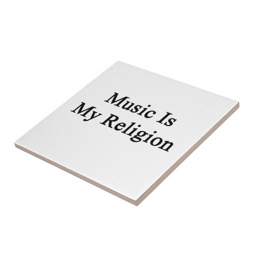 Music Is My Religion Small Square Tile