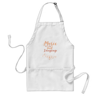 Music Is My Second Language 2nd Language Music Standard Apron