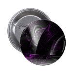 Music is purple geometry (Spirals on black tori) Pinback Buttons