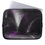 Music is purple geometry (Spirals on black tori) Computer Sleeves