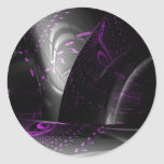 Music is purple geometry (Spirals on black tori) Classic Round Sticker