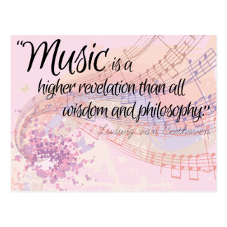 'Music is...' quote poster Postcard