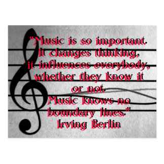 Music is so important postcard