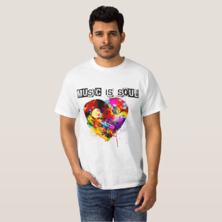 "Music Is Soul #1 ""Stereo Heart"" T-Shirt"