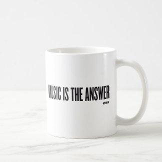 Music is the answer basic white mug