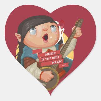 Music Is The Best Magic Heart Sticker