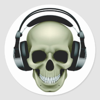 MUSIC IS THE MEDICINE ROUND STICKER