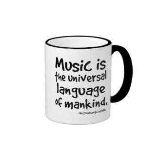 Music Is The Universal Language Of Mankind Gift Coffee Mugs