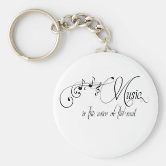 Music Is The Voice Of The Soul Basic Round Button Key Ring