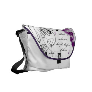 Music is the wine Shoulder Bag Courier Bag