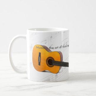 Music is thinking with sound Guitar Coffee Mug