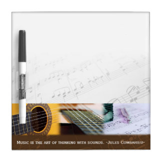 Music is thinking with sound Guitar Dry Erase Board