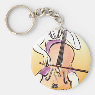 Music Is what feelings sound like Basic Round Button Key Ring