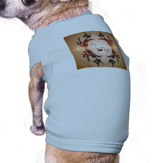 Music, key notes with floral elements, pet t shirt
