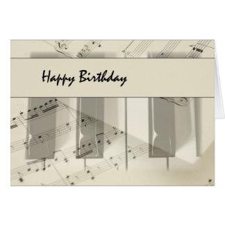 Music Keyboard Birthday Card