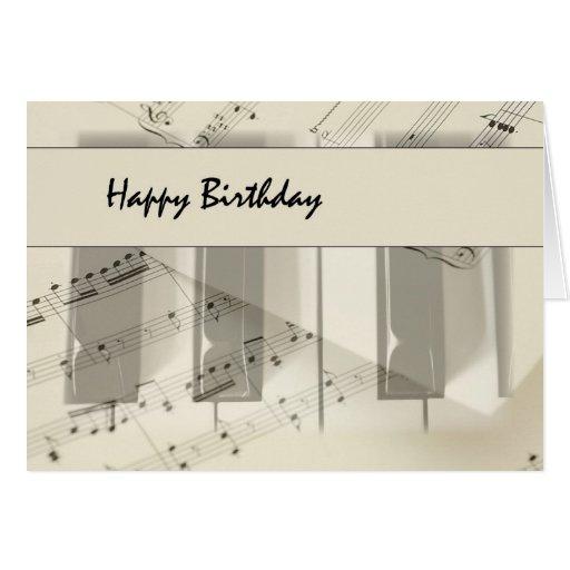 Music Keyboard Birthday Cards