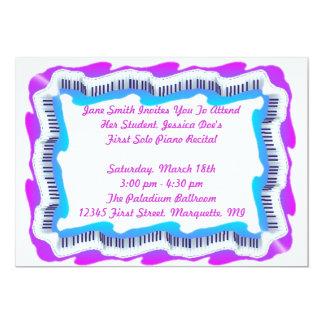 Music Keyboard Piano Recital Or Party INVITATION