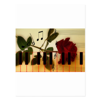Music Keys Notes World Destiny Art Digital Postcard