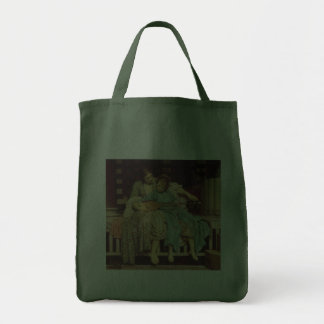 Music Lesson by Leighton, Vintage Victorian Art Tote Bag