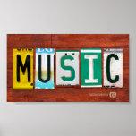 Music License Plate Art Poster Print