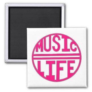 Music = Life Square Magnet