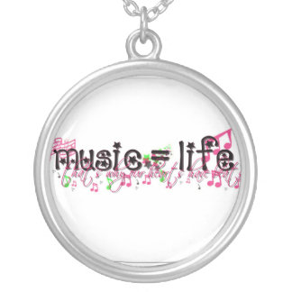 music = life silver plated necklace