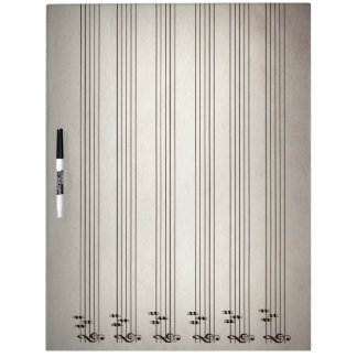 Music Lines Blank Notation Erase Board