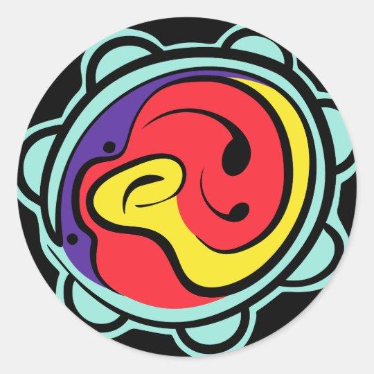 Music logo Design iPhone case Classic Round Sticker