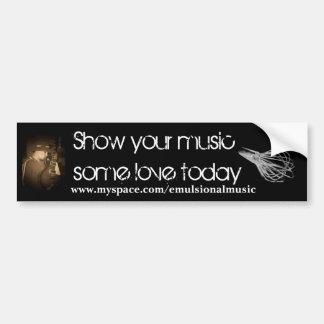 Music Love Bumper Sticker