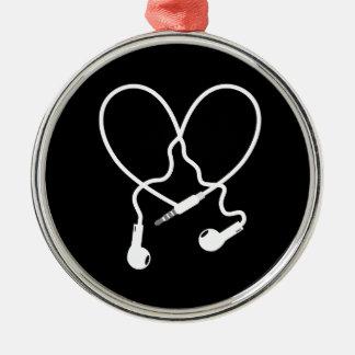 music love headphones christmas ornament