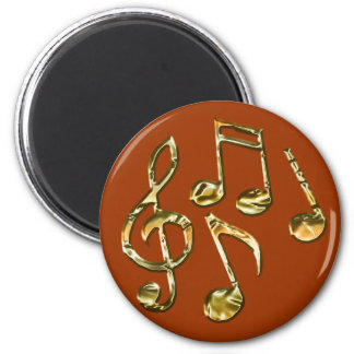 MUSIC LOVER Collection 6 Cm Round Magnet