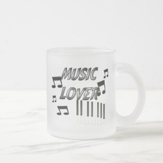 Music Lover Frosted Glass Coffee Mug