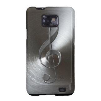 Music-lover s Silver Treble Cleff Samsung Case Samsung Galaxy Cases