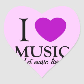 Music Lover_ Heart Stickers