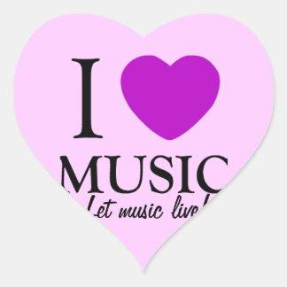 Music Lover_ Heart Sticker