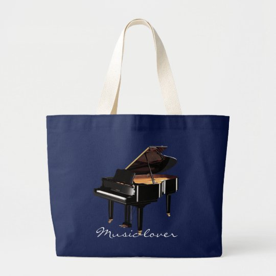 MUSIC-LOVER Theme Grand Piano Gift Tote