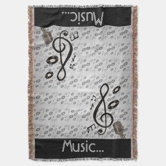 Music Lover Throw Blanket