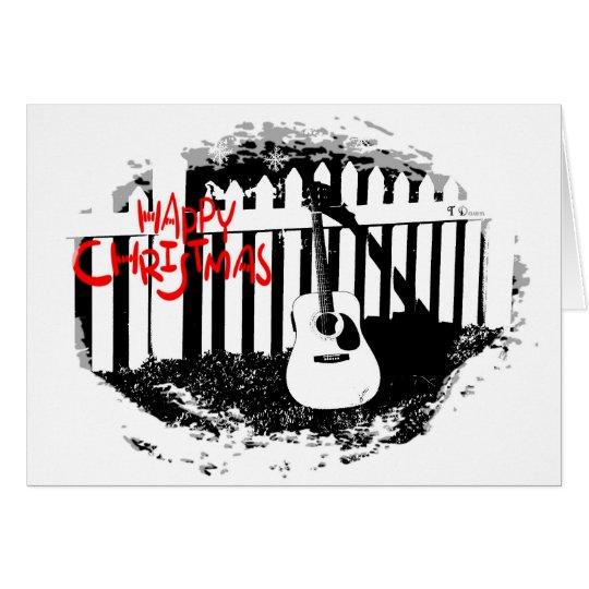 Music Lovers Christmas -Acoustic Guitar Christmas Card