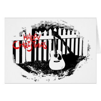 Music Lovers Christmas -Acoustic Guitar Christmas Greeting Card