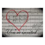 Music Lovers invitation