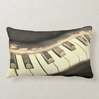 music lovers pillow piano keyboard art