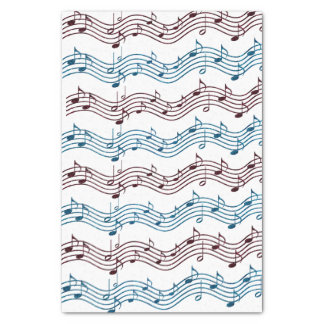 Music Lovers Red and Blue Tissue Paper