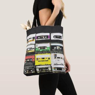 Music Lover's Retro Cassette Tape 80's Tote Bag