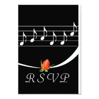Music Lover's RSVP Card 9 Cm X 13 Cm Invitation Card