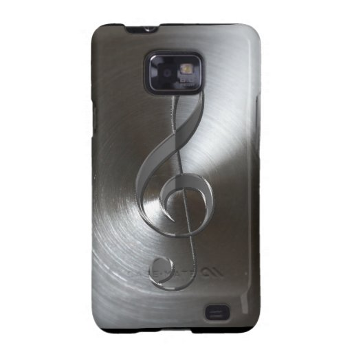 Music-lover's Silver Treble Cleff Samsung Case Samsung Galaxy Cases