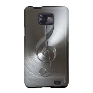 Music-lover's Silver Treble Cleff Samsung Case Galaxy S2 Cover