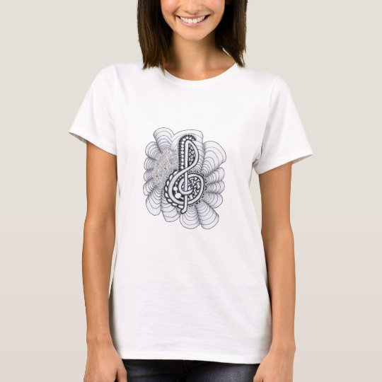Music Lovers Treble Clef Design T-Shirt