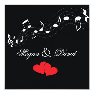 Music Lover's Wedding Invitation