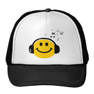 Music loving smiley cap