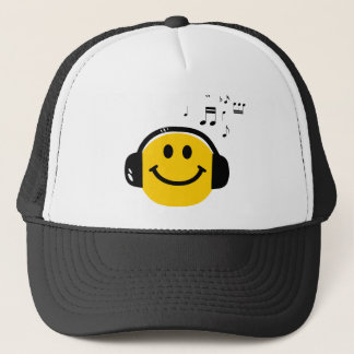 Music loving smiley trucker hat